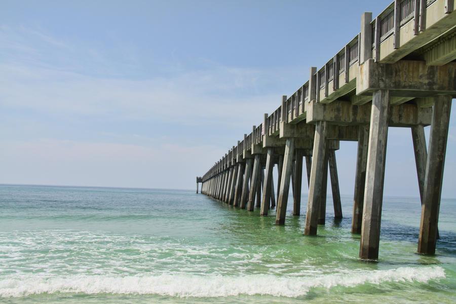 pensacola beach pier by expressionsoutlet on deviantart