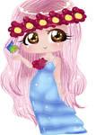 Chibi Hippie Lovely Lady