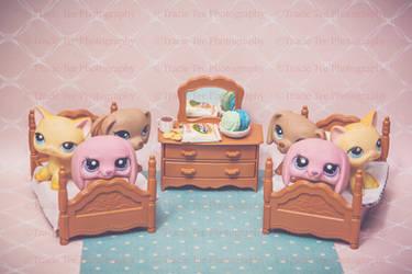 Twins Sleep Over