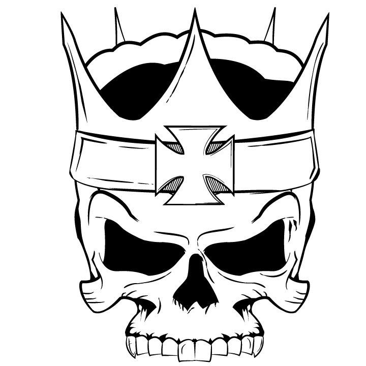double barrel graphics skull by jonnypyro on deviantart