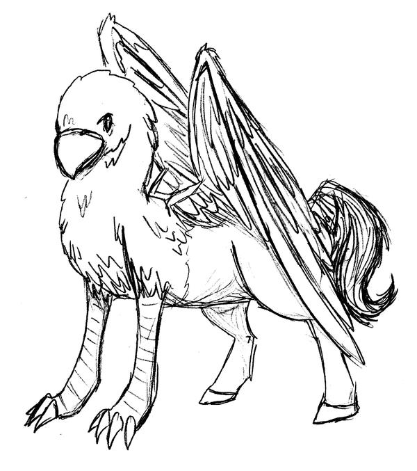coloring pages buckbeak - photo#3