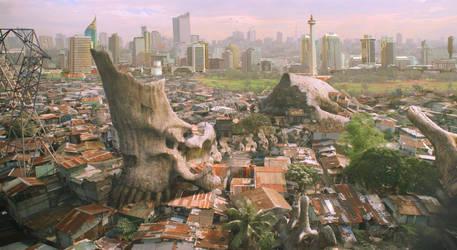 Jakarta Kaiju by NauFaLIrfan