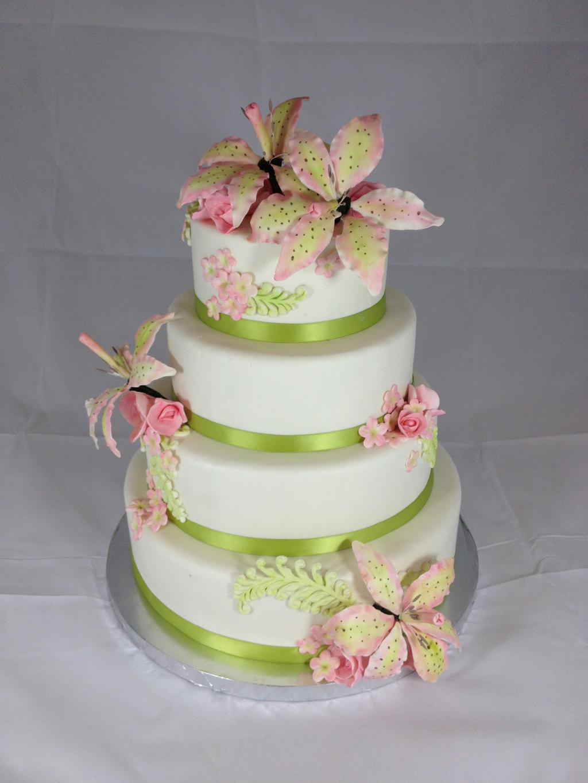 Stargazer Lily Wedding Cake by simplysweets on DeviantArt