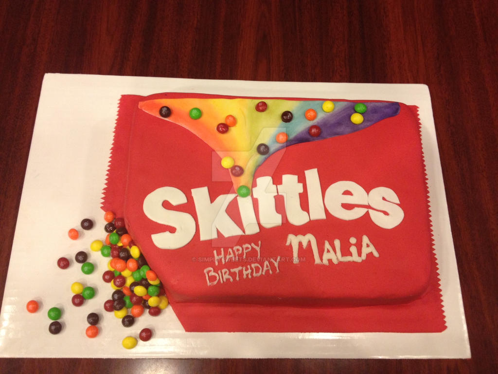 Skittles Birthday Cake By Simplysweets On Deviantart