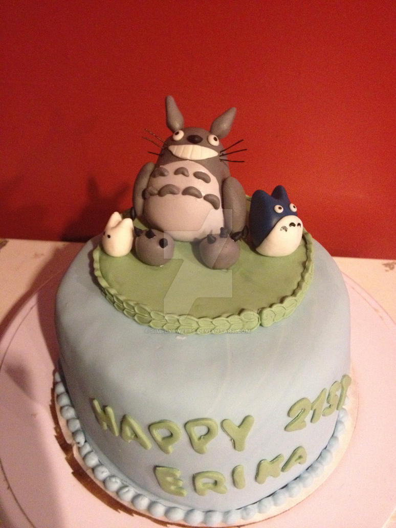 Totoro Cake By Simplysweets On Deviantart