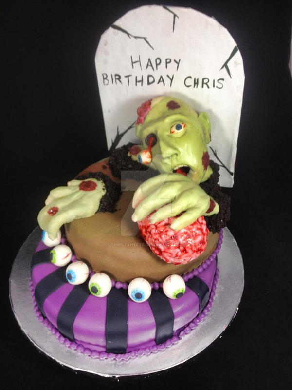 Zombie Birthday Cake by simplysweets on DeviantArt