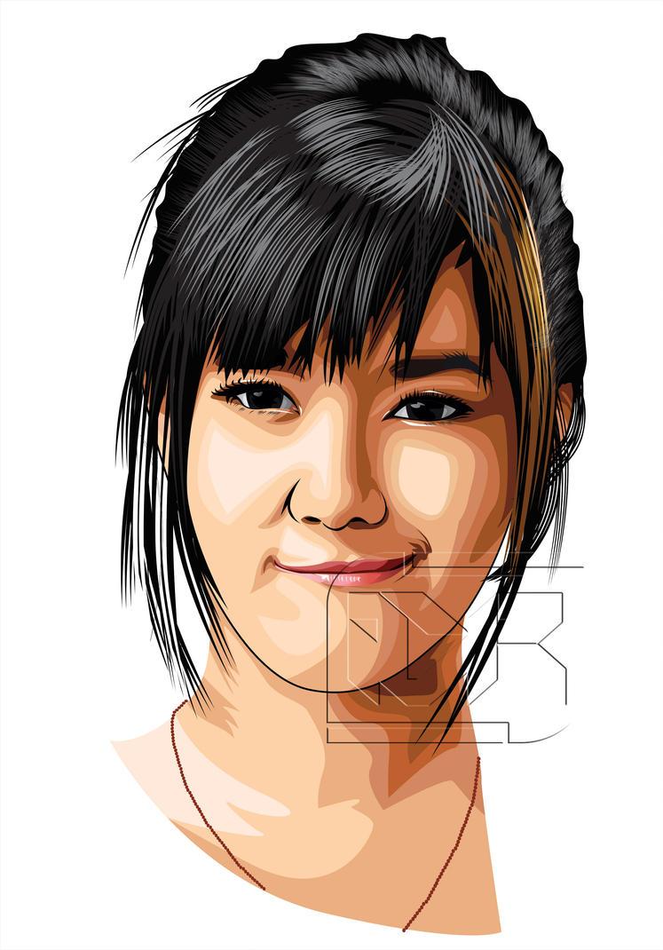 Natasha Nauljam Vector Art by indrorobo