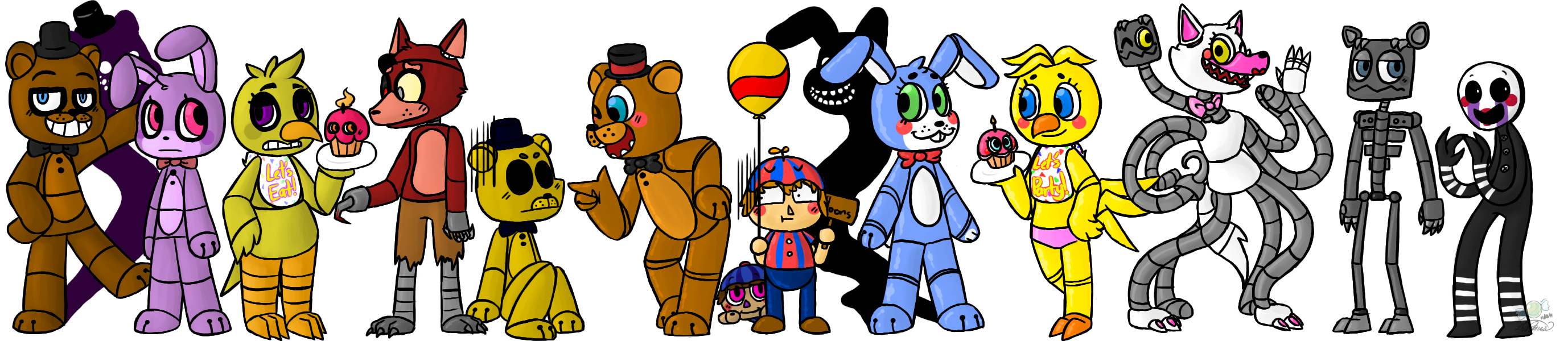 Coloring pictures five nights at freddys 2 cartoon coloring pages -  Five Nights At Freddy S 2 By Candykidneys