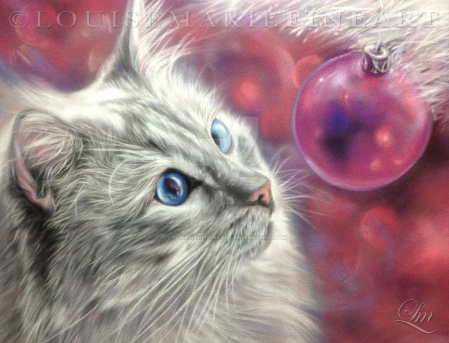 Jolly Ollie Christmas by LouiseMarieFineArt