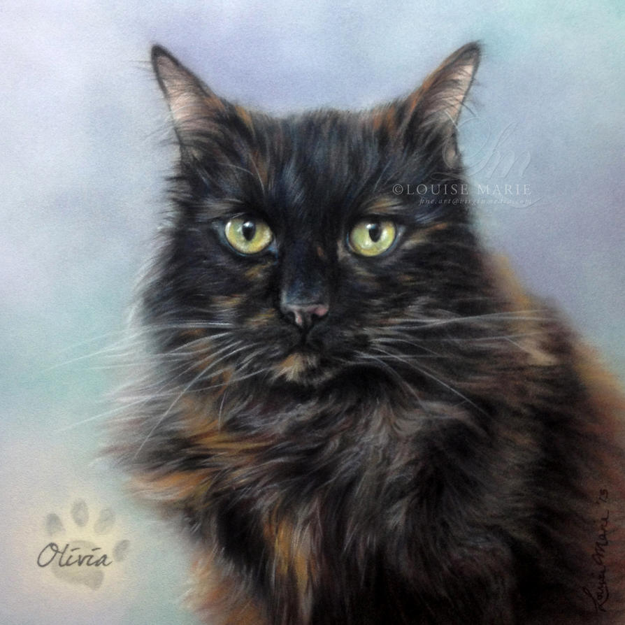 'OLIVIA' Cat Portrait by Louise Marie by ...