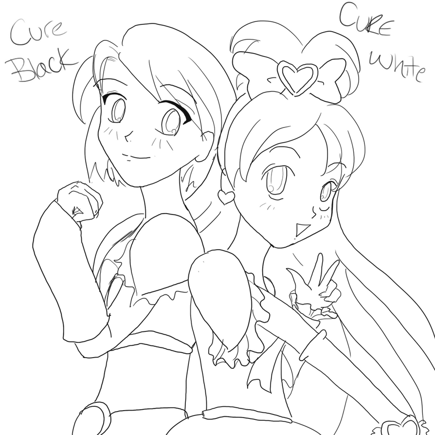 Brit-chan's Arts and Things [Updated 6/2/18] Cure_black_and_cure_white_wip_by_brit_chan-d3945pd