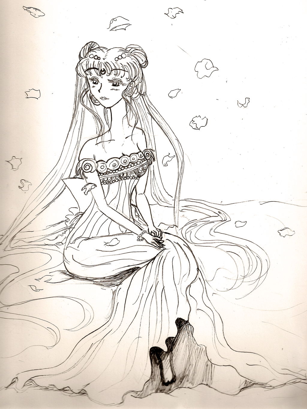 Brit-chan's Arts and Things [Updated 6/2/18] Princess_serenity___wip__by_brit_chan-d3dt304