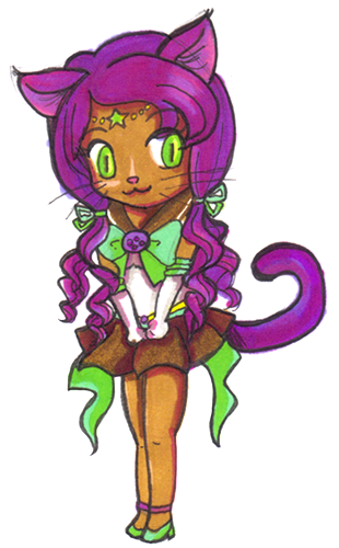 Sailor Bastet ~ Chibi [OC Senshi] by brit-chan
