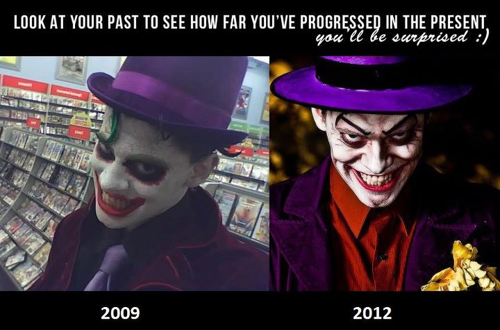This Cosplayer is showing an Envolved from Year to Year