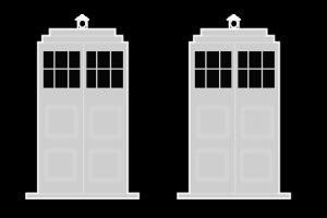 Police Box TARDIS Brush