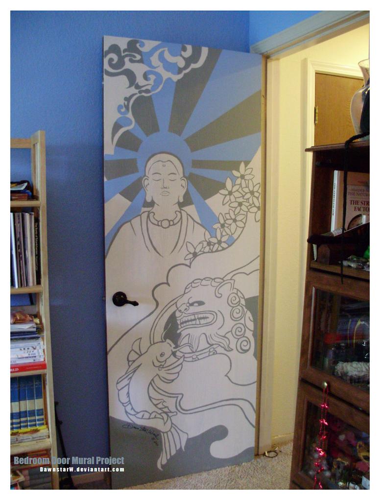 Bedroom Door Mural Project by DawnstarW