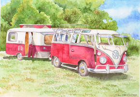 1962 VW Bus with camper