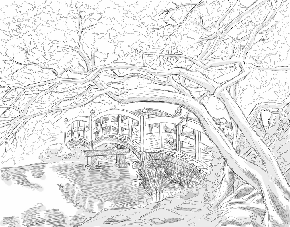 Garden Bridge By On Deviantart