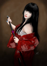 Girl with katana by Reiman76