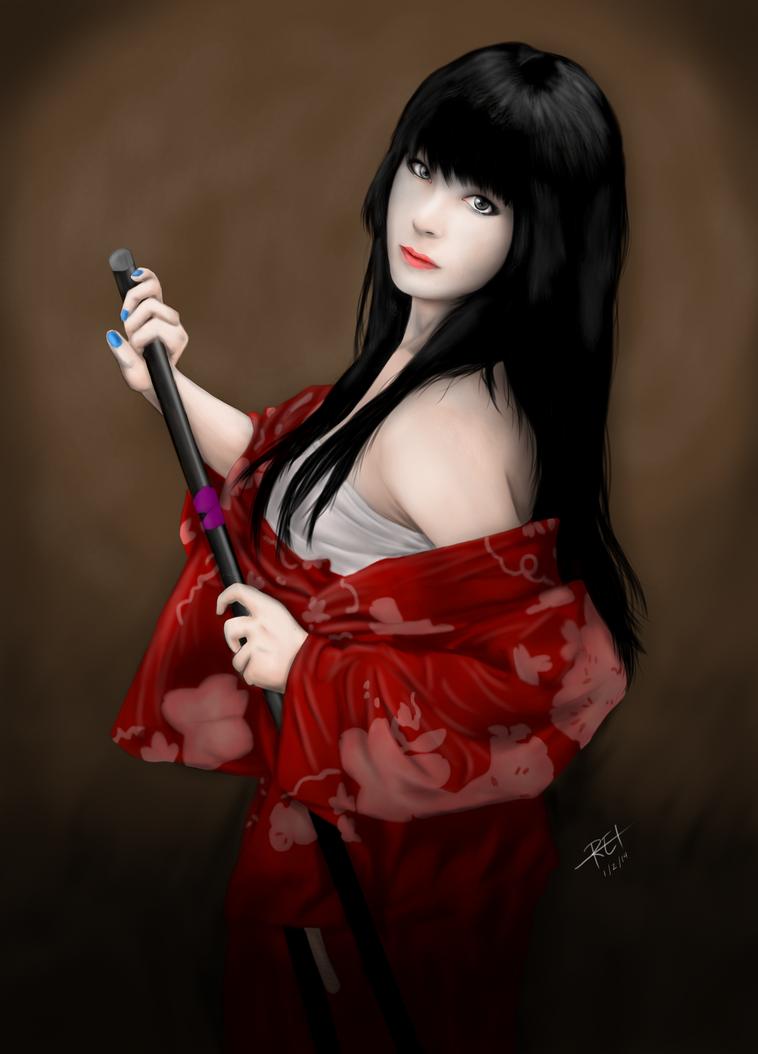 Sexy woman with katana  Stock Photo  depositphotoscom