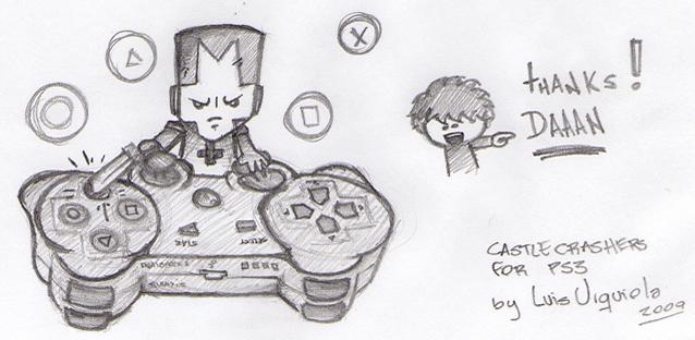 Castle Crashers on PS3 for Dan by LuisUrquiola