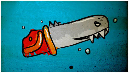 shark saw by Scash
