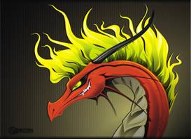 Demon Dragon by Illumielle