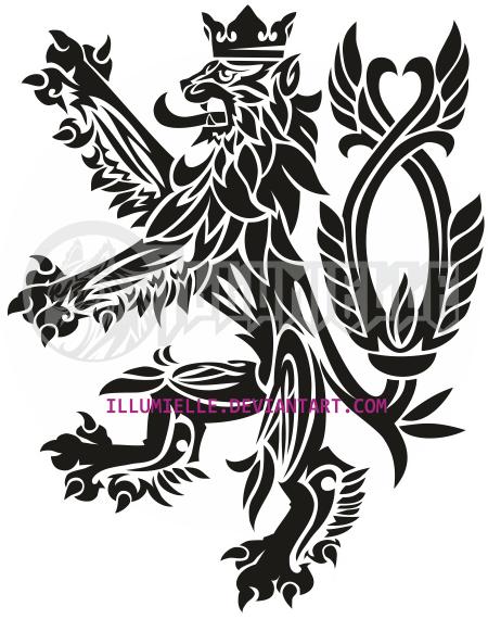 Tattoo: Bohemian (czech) Lion by Illumielle