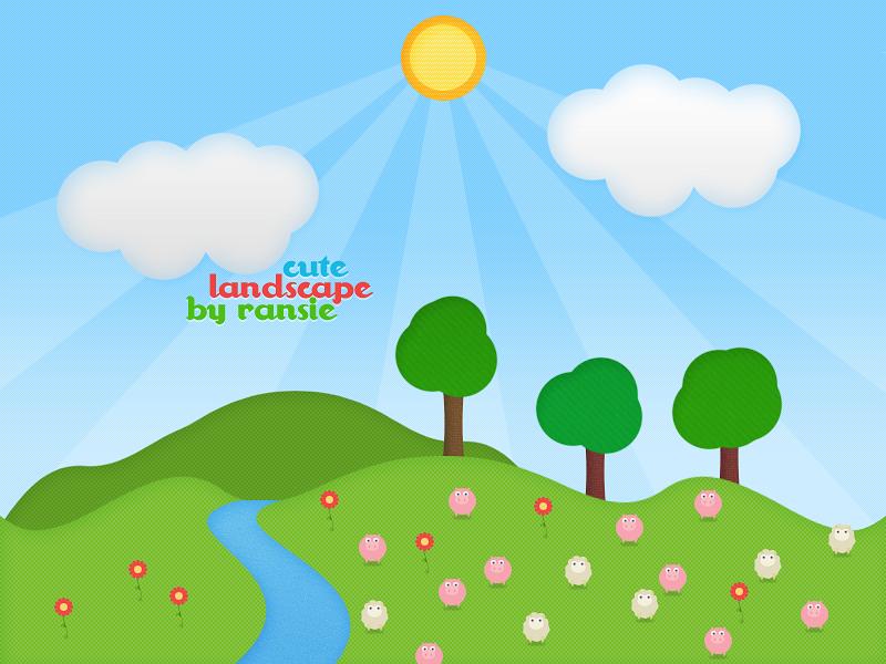 Cute Landscape By Ransie3 On Deviantart
