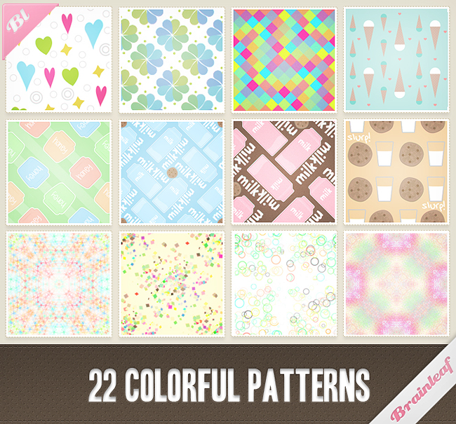 Patterns 26 - Colorful Patterns Set by Ransie3