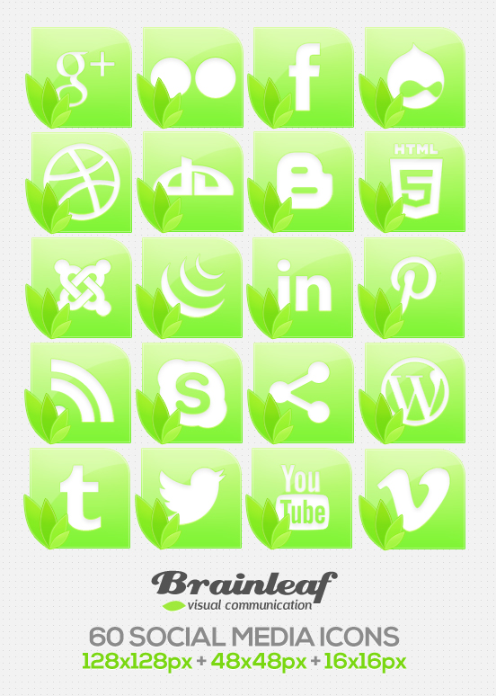Free Nature Social Media Icons by Ransie3