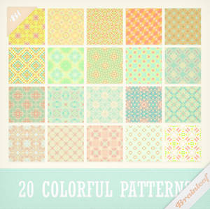 Patterns 27 - Sweet Colorful Patterns Set