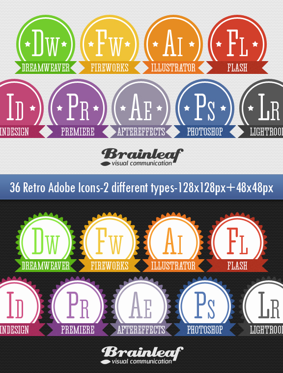 Retro Adobe Icons Set by Ransie3