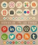 Retro Social Media Icons