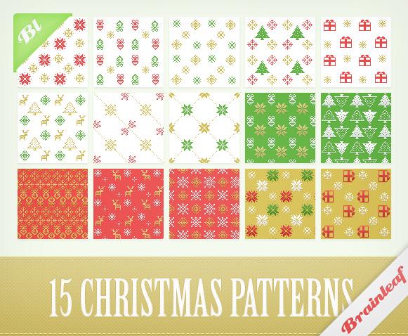 Christmas Pixel Patterns by Ransie3