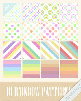 Rainbow Stripes and Dots Patterns