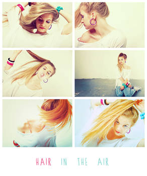Hair in the Air - Collage