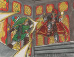 Battle of the Triforces| Ocarina of Time Fanart