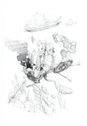 Inktober #4 - Underwater