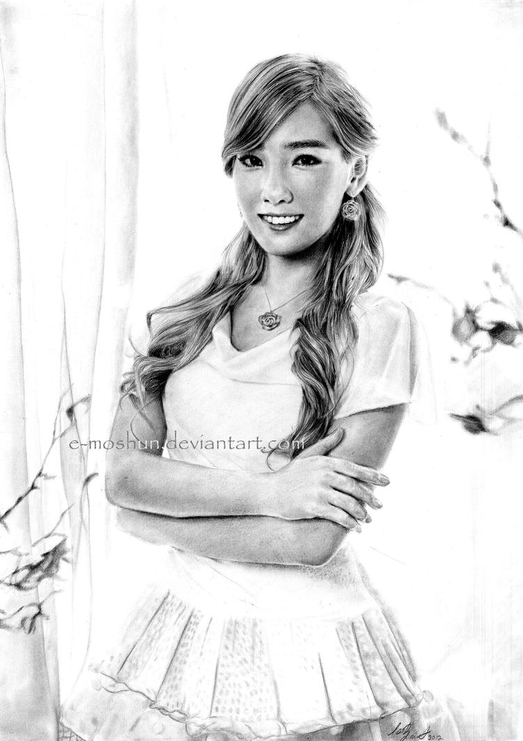 Taeyeon Drawing - SNSD by e-moshun