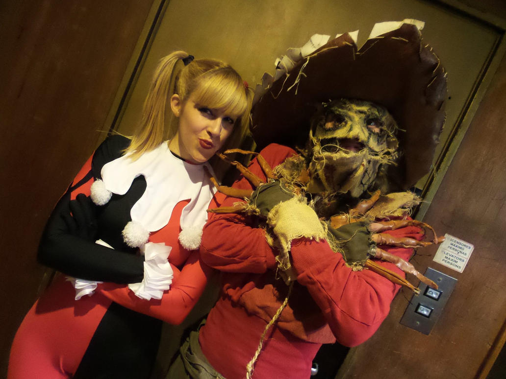 Harley Quinn and Scarecrow by LeanAndJess