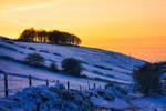 Sunset winter walk