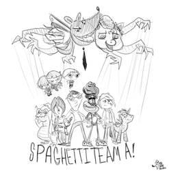 Spaghetti Team A! Preview of a brand new comic!