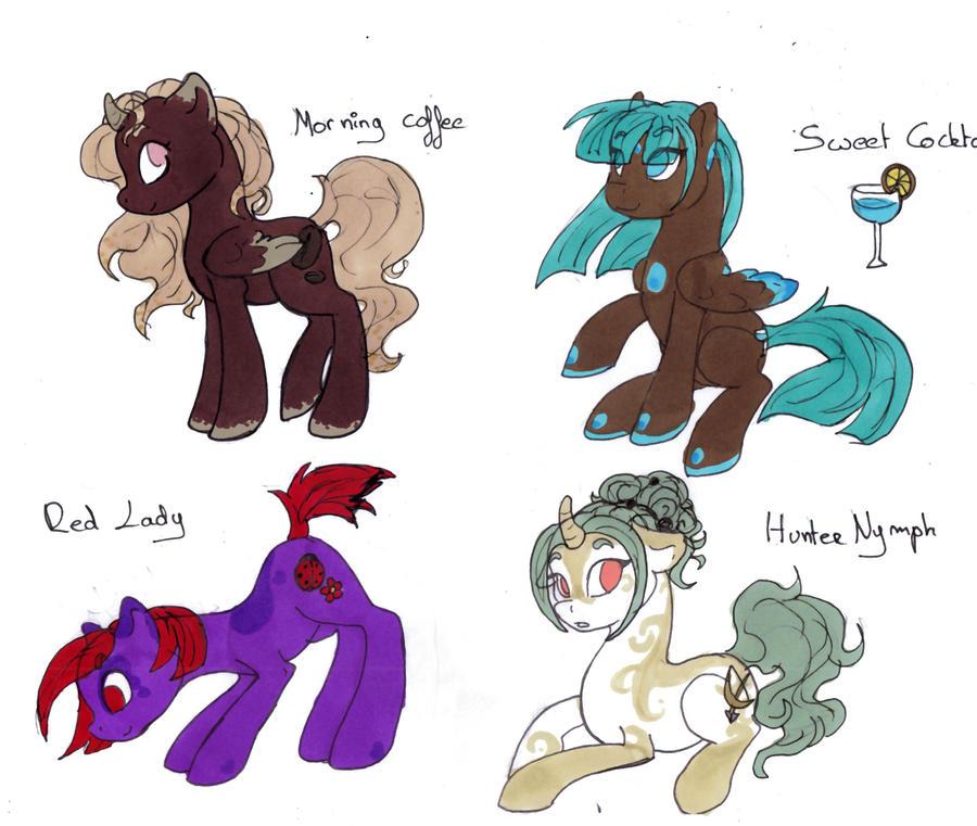 ADOPTABLE .:Pony Girls:. ONE LEFT by lfraysse