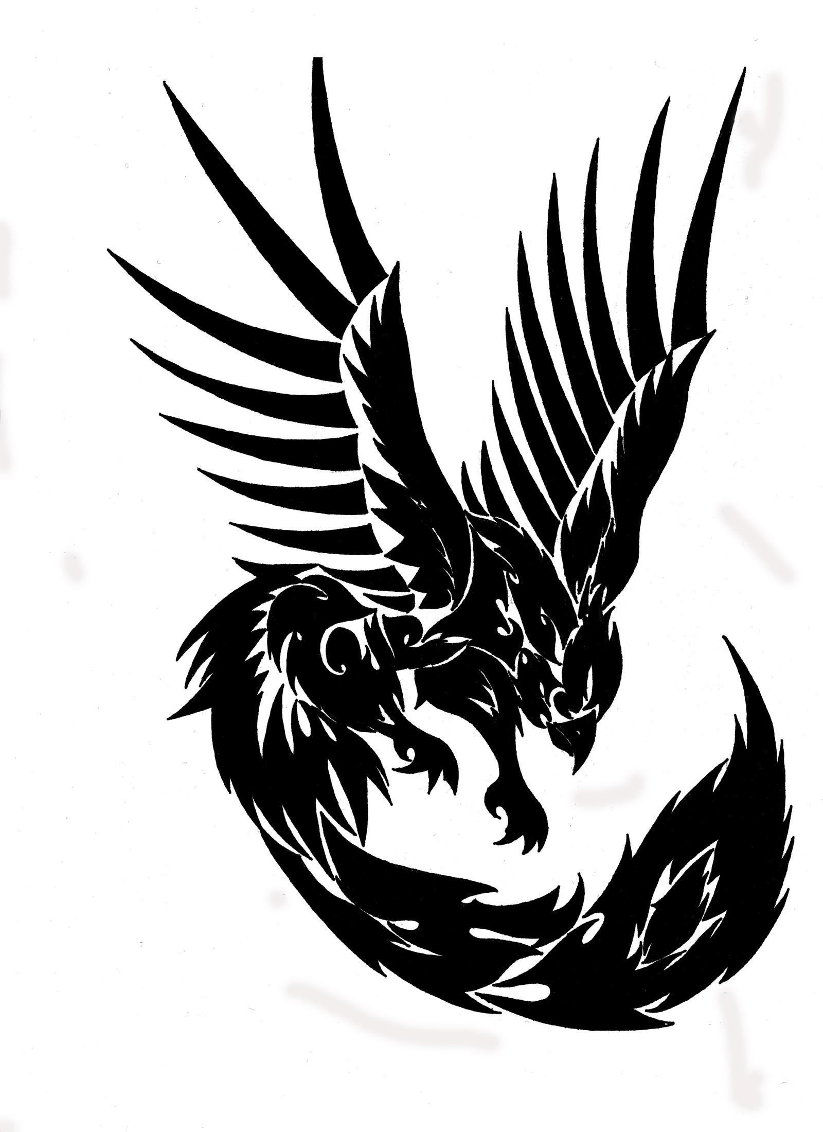 tribal phoenix by toxiconus on deviantart. Black Bedroom Furniture Sets. Home Design Ideas
