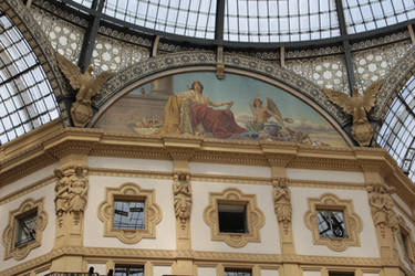 Galleria Vittorio Emanuele II exterior by DelphineHaniel