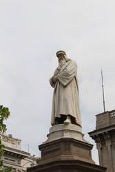 Leonardo da Vinci statue by DelphineHaniel