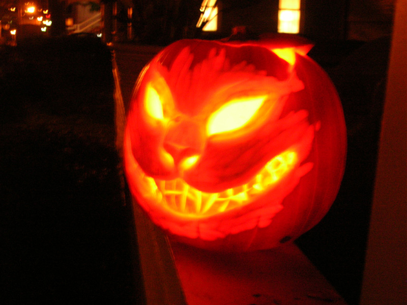 Cheshire Pumpkin by felixxkatt
