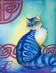 Blue Celtic Cat