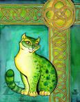 Green Celtic Cat